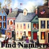 Find Numbers - American Villages Painting